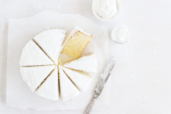 The Urge To Shoot Cakes, A White Butter Cake Will Do Just Nicely!