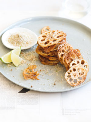 Five Spiced Salt 'n' Sichuan Pepper Chicken with Lotus Root Chips