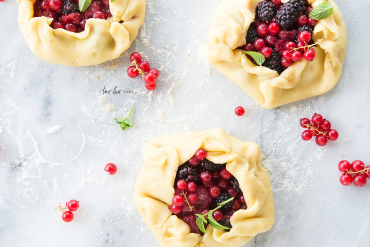 Handmade Sour Cream Tartlets with Summer Berries