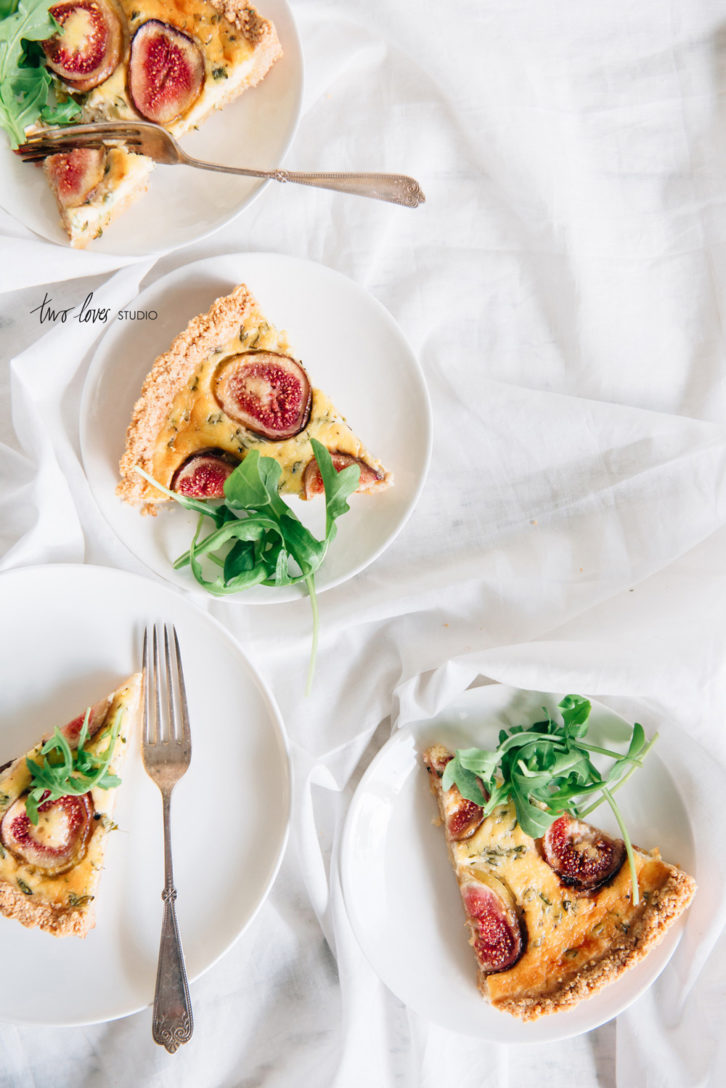 Two Loves Studio Fig Goats Cheese Tart