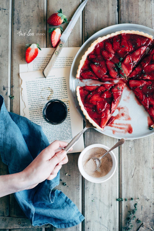 Two Loves Studio Roasted Strawberry Tart