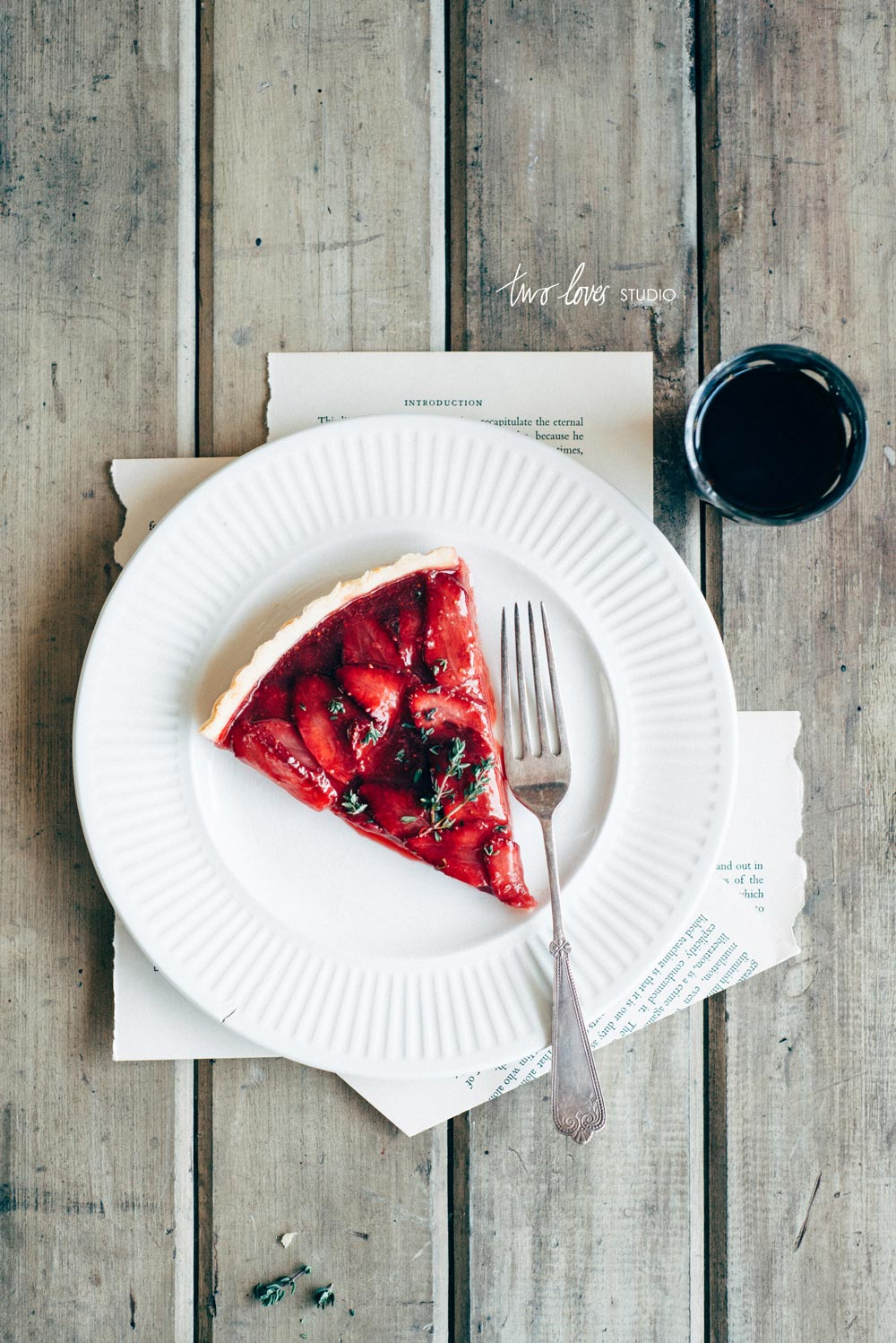 Two Loves Studio Roasted Strawberry Tart