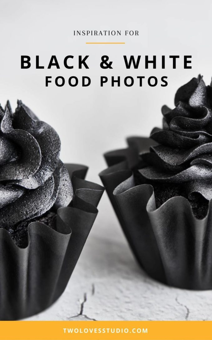 Black chocolate devils food cupcakes. An upclose macro shot. There isn't any colour to this photo so it appears black and white even thought it's real food!