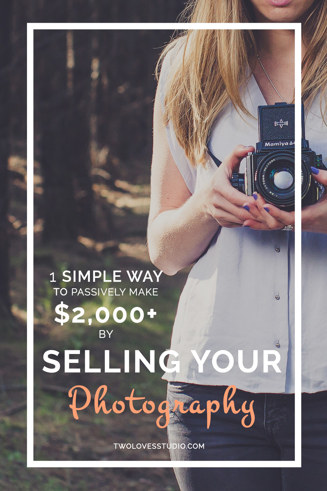 1 Simple Way To Passive Make $2,000+ by Selling Your Photography | Want to make money by selling your photography by doing nothing? There is just one simple thing I do that sees me passively make over $2,000 a year. Click to get the easiest tip you'll ever read.
