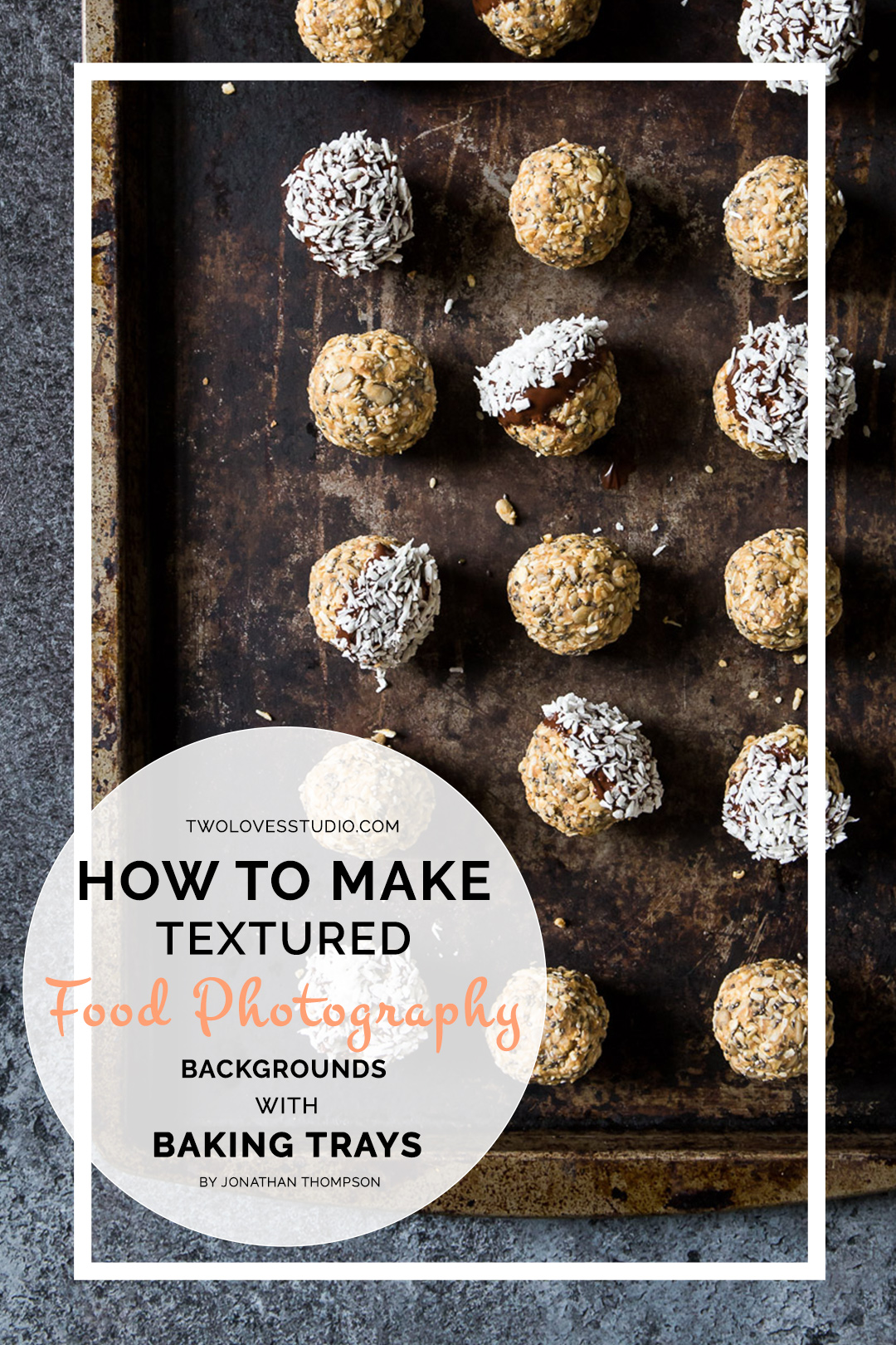 How To Make Textured Food Photography Backgrounds with Baking Trays | In just 5 steps, I'm going to share one way I get interesting food photography backgrounds with metal baking trays to bring new dimensions and texture to your images. Click to get the look!