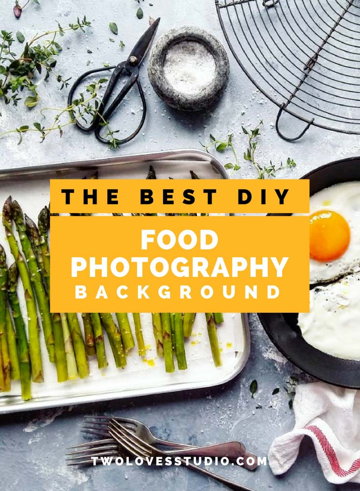 Learn to create a really beautiful food photography backdrop in just 4 easy steps, FREE printable how to guide included. Ready, set - paint!