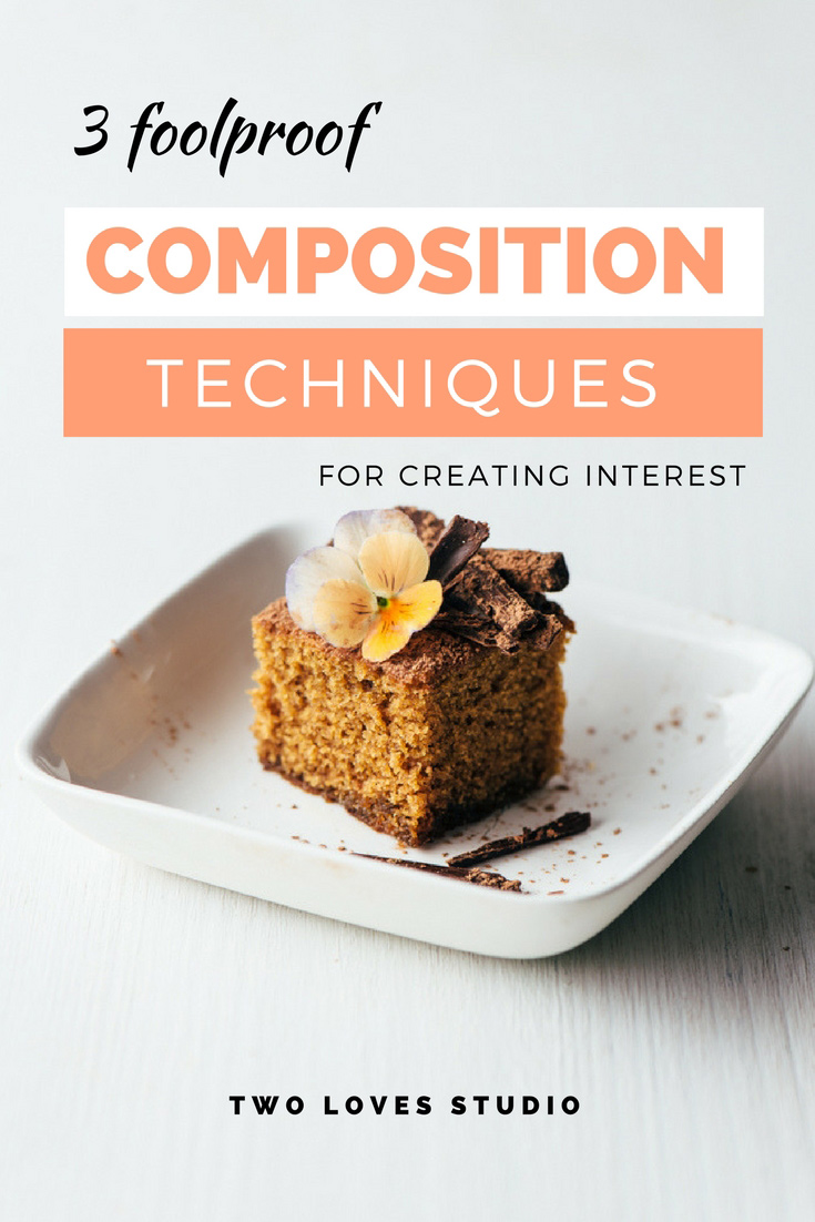 Feeling overwhelmed about which composition techniques to use in food photography? Here are three foolproof techniques for creating interest. Click to read.