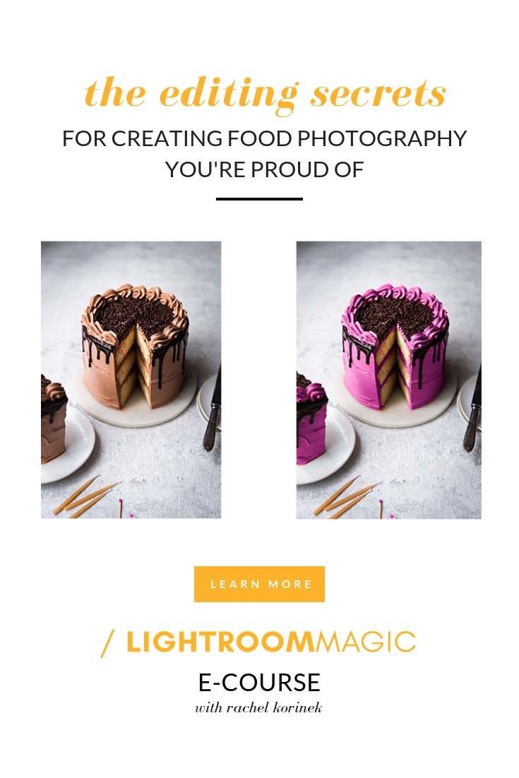 Learn Lightroom for Food Photography