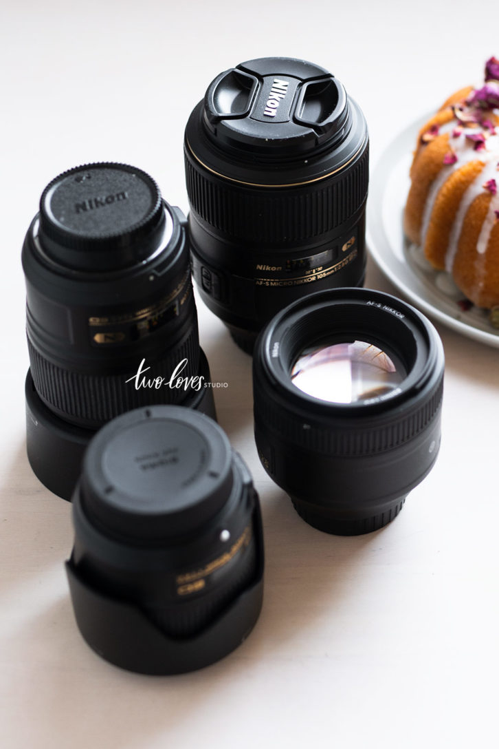 Shots of different lenses. 4 Utlimate Lenses I recommend for food Photography.