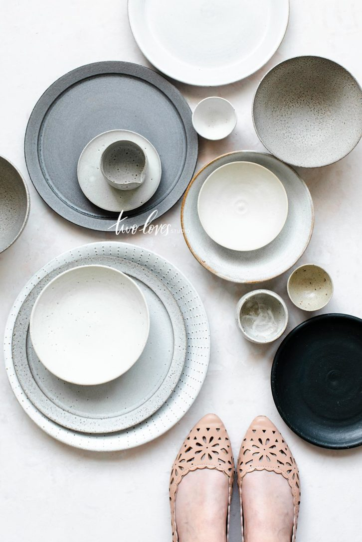 Different assortments of Prop Plates, bowls and pinch bowls.