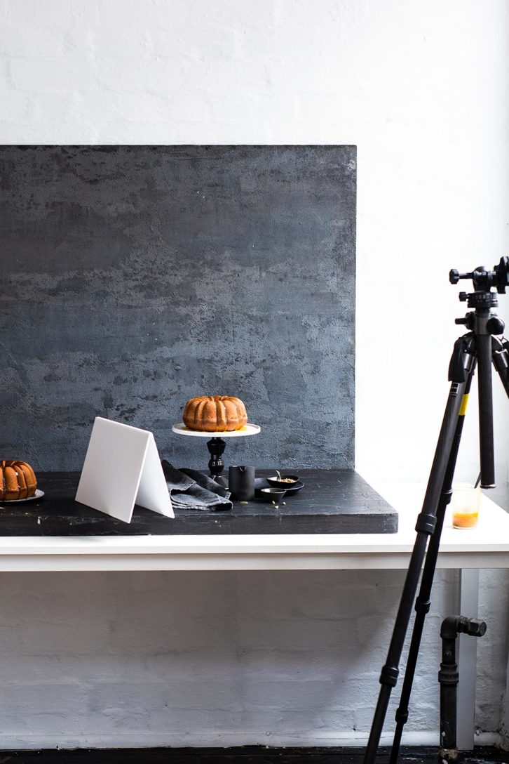 Most food photography is done in doors with a similar setup.