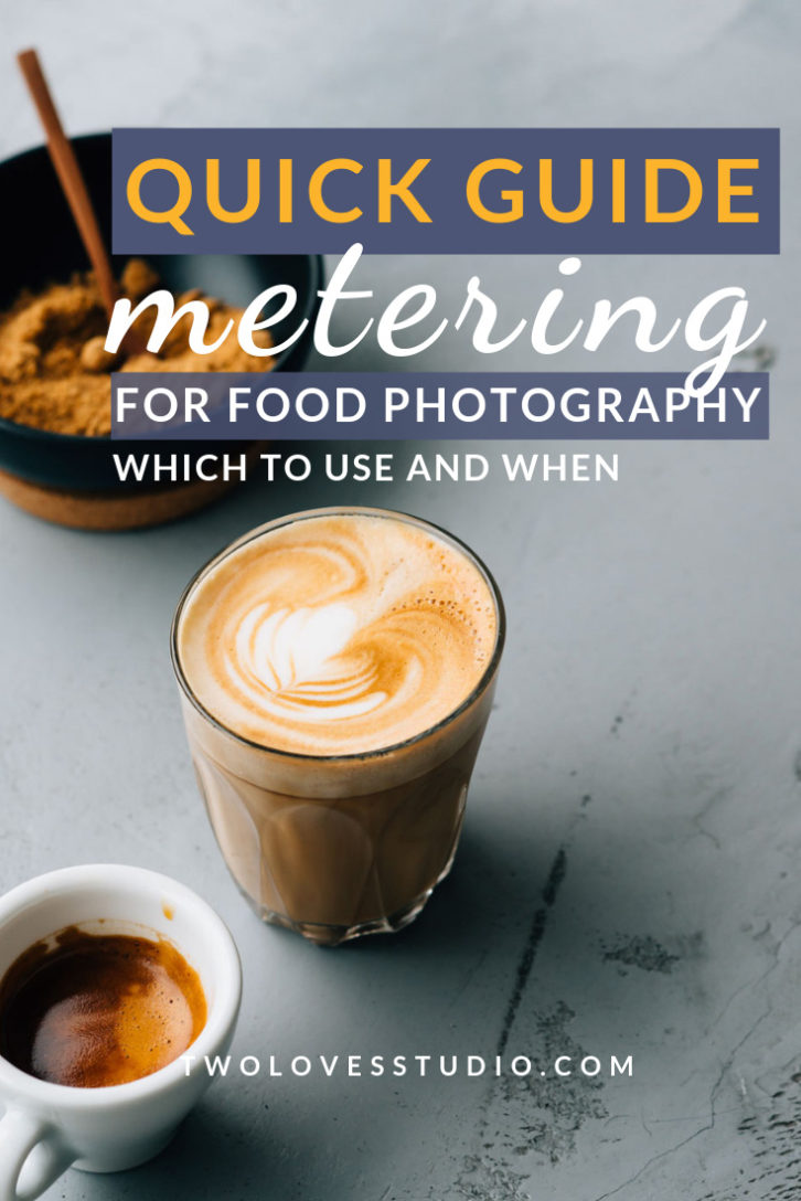 Quick guide metering for food photography.