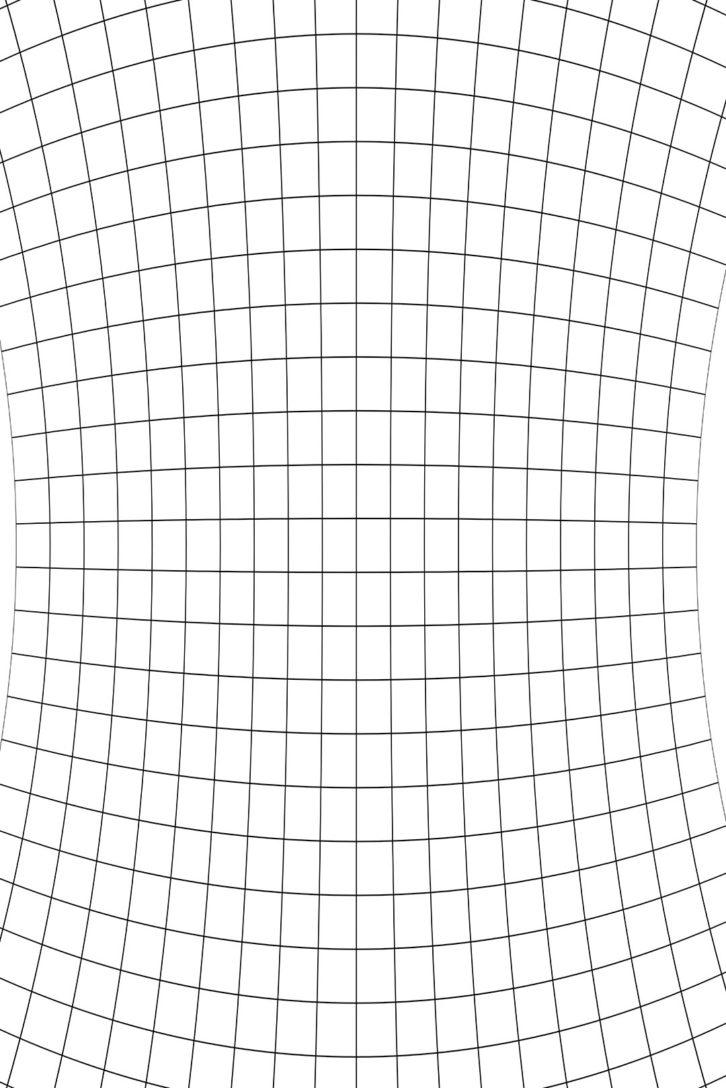 Distortion view of barrel pincushion.