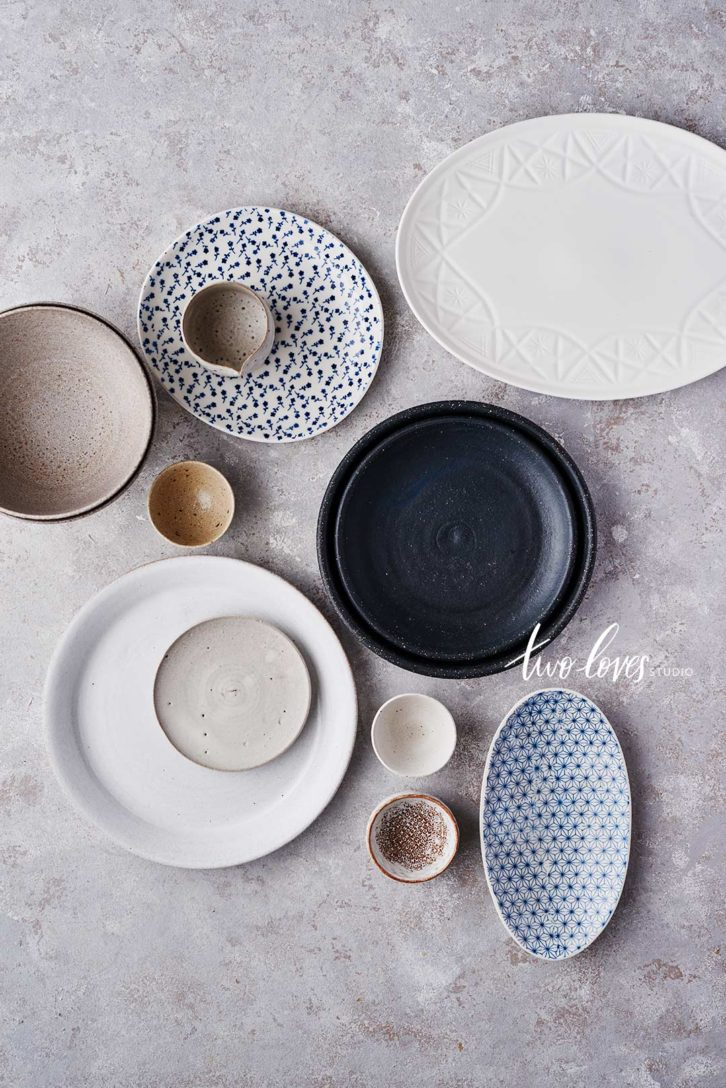 An assortment of plates and bowls