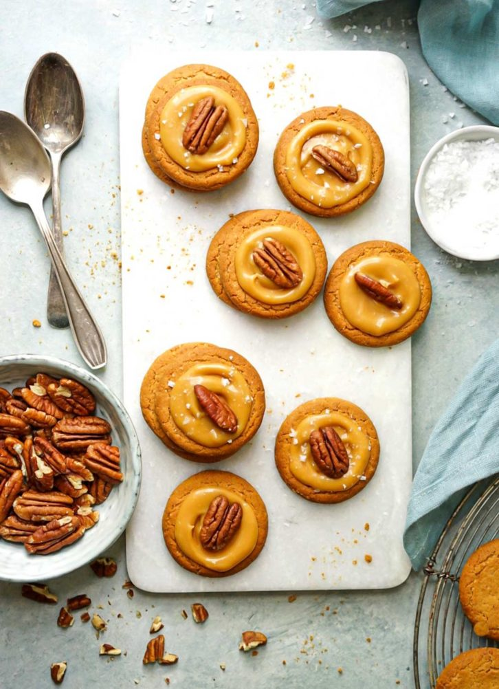Cookies with pecans on top