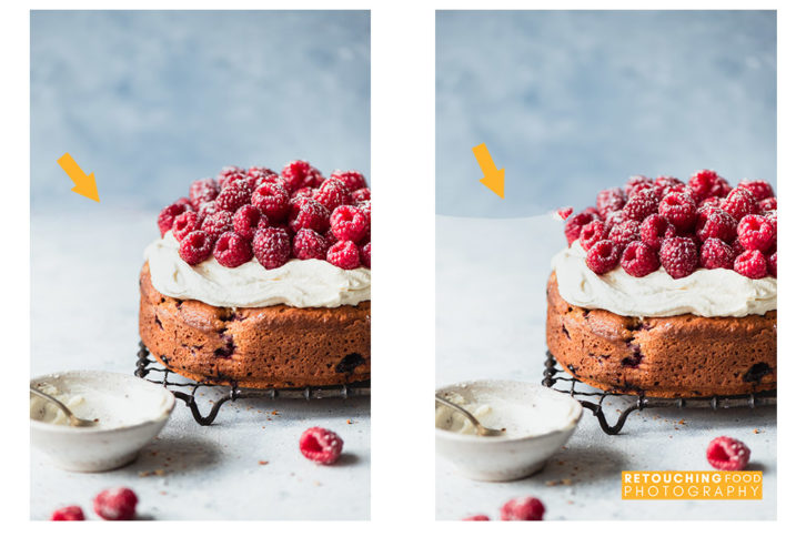 Seamlessly blend, touch up and remove objects from your food photos with Content Aware Photoshop retouching tools. Click for examples before and after.