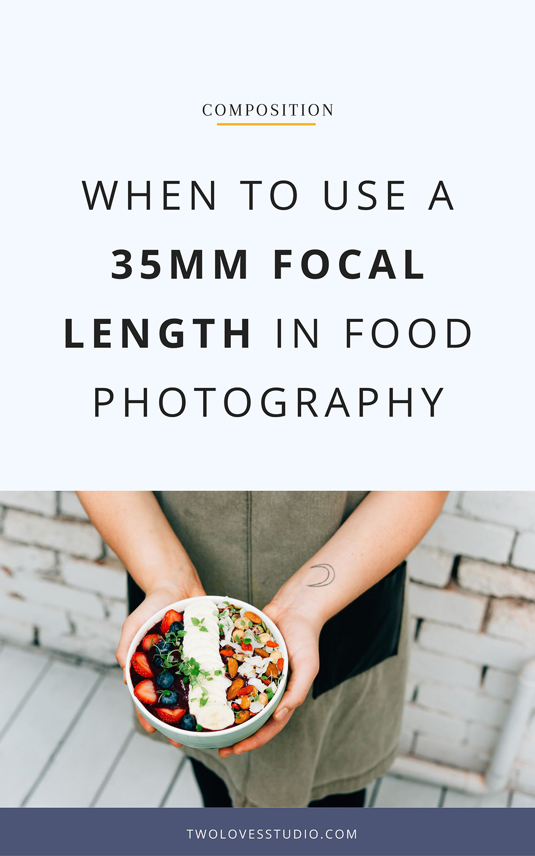 When To Use a 35mm Focal Length in Food Photography