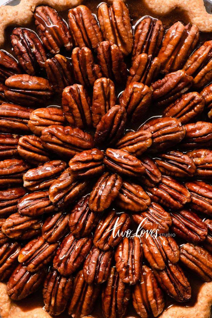 Pecan Pie macro minimal shot