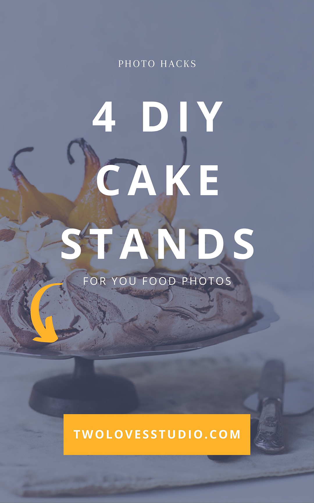 Chocolate swirl meringue on metal cake stand