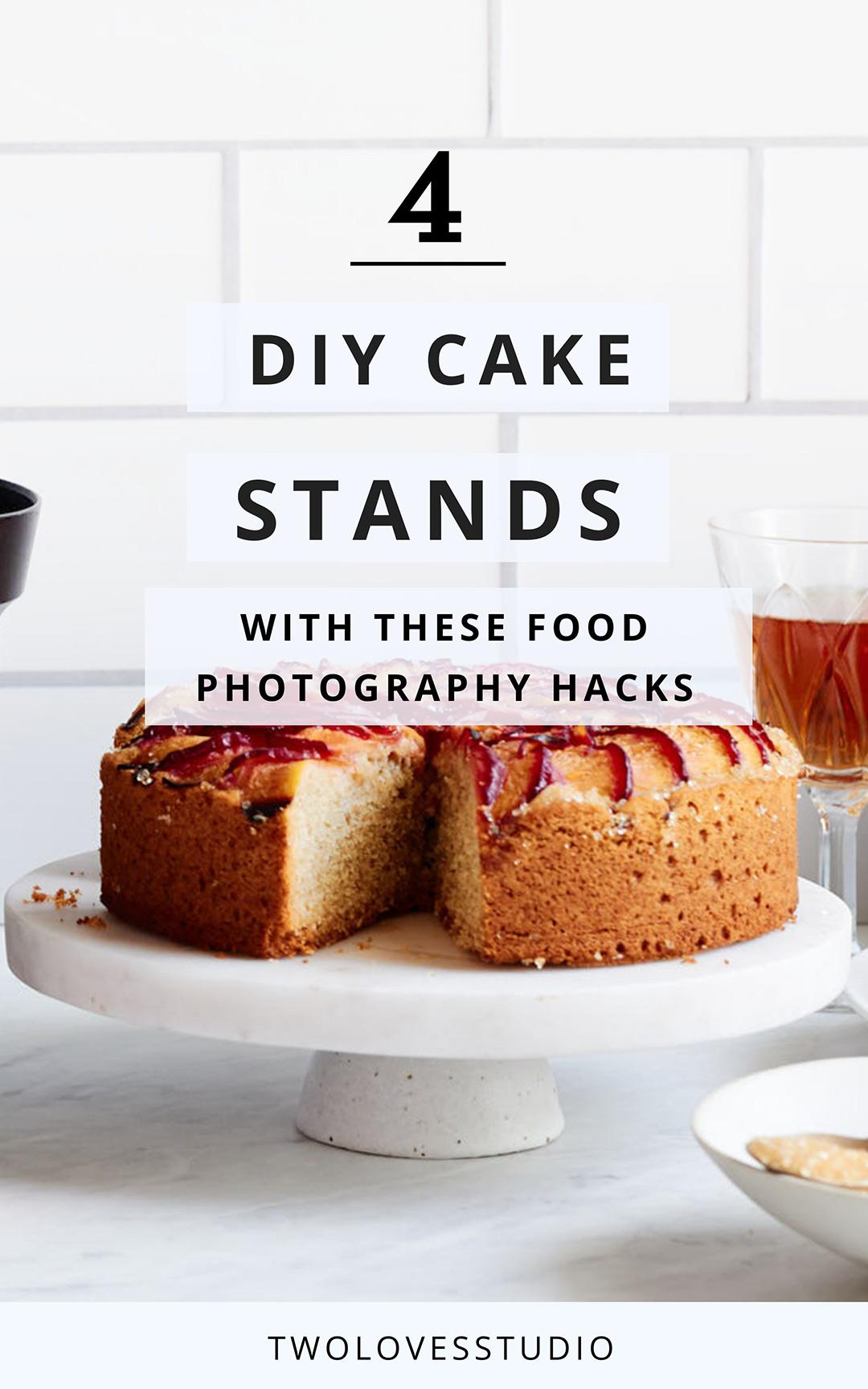Plum cake on cake stand