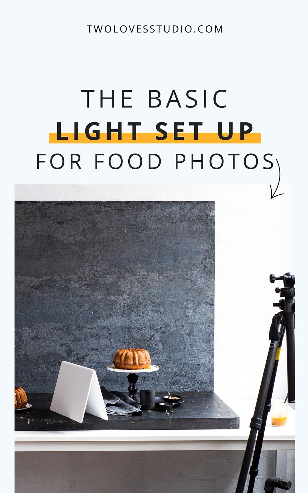 basic light setup for food photography