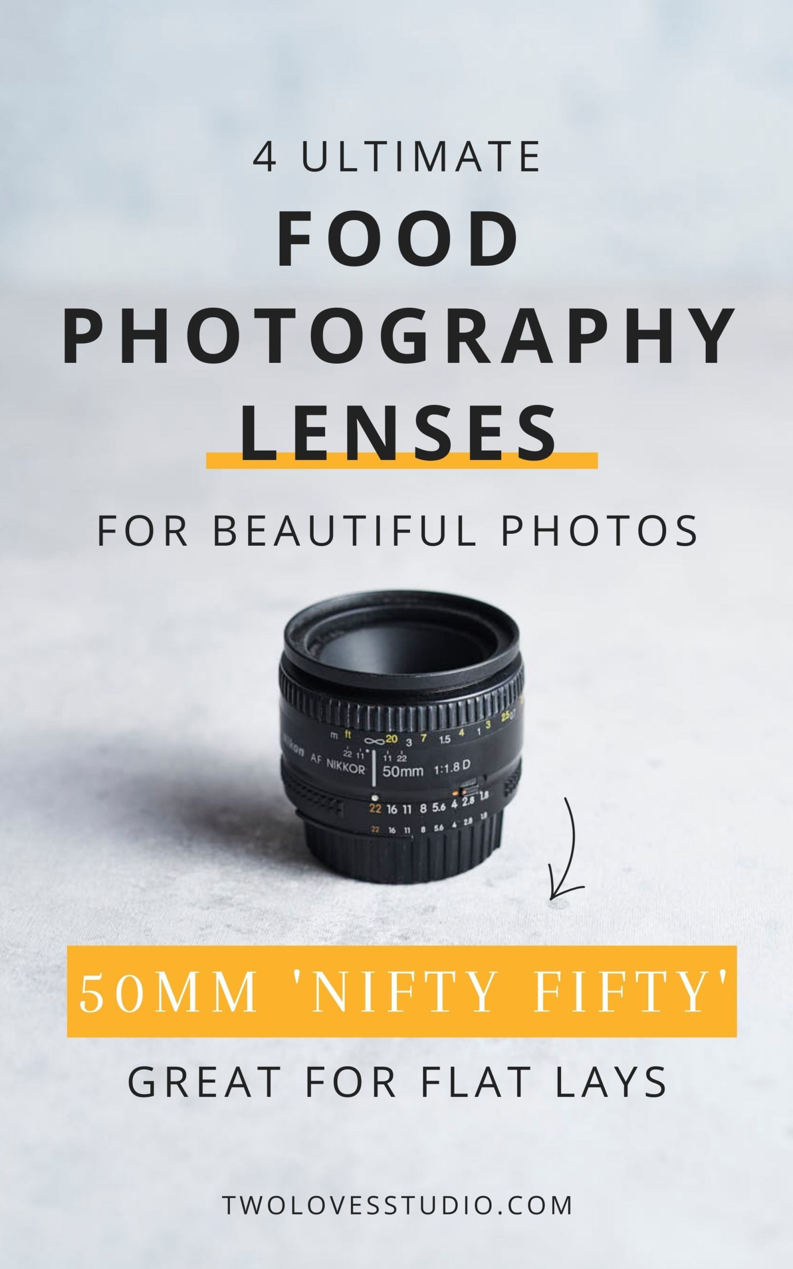 50 MM photography lense on a table.
