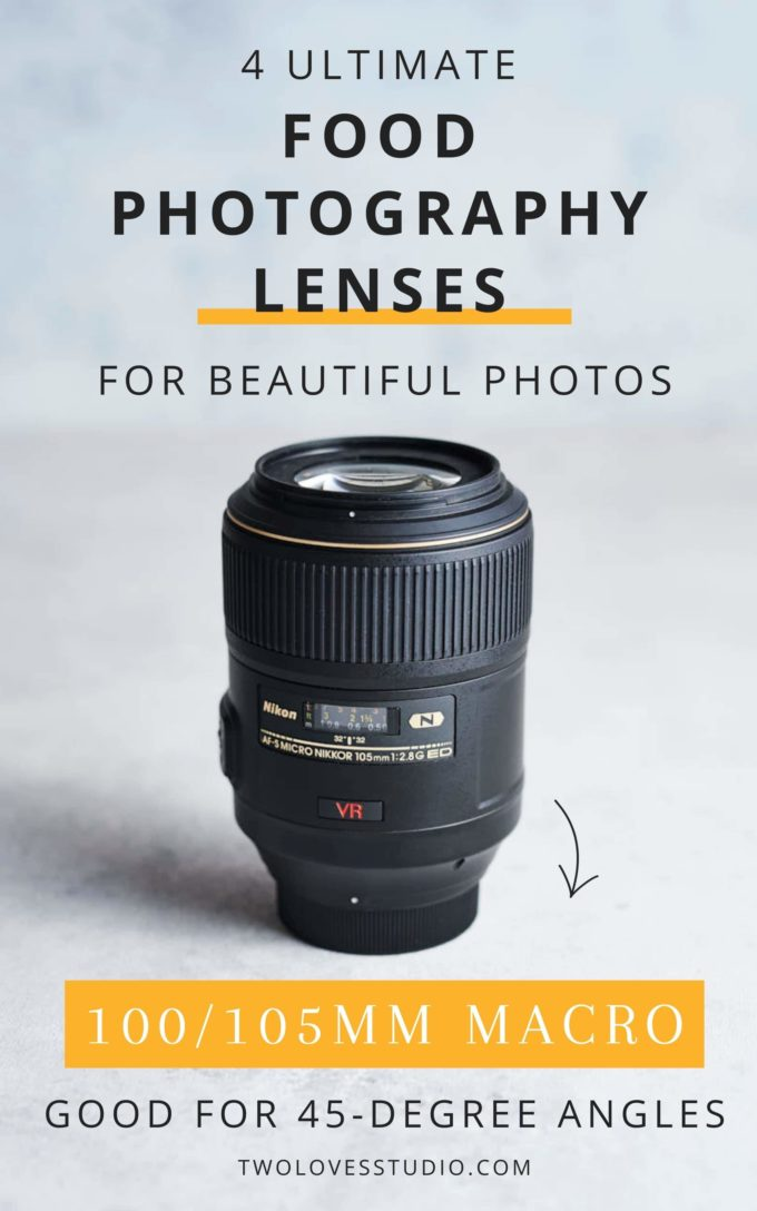 100 MM - 105 MM lense, close up picture, lense on a table.