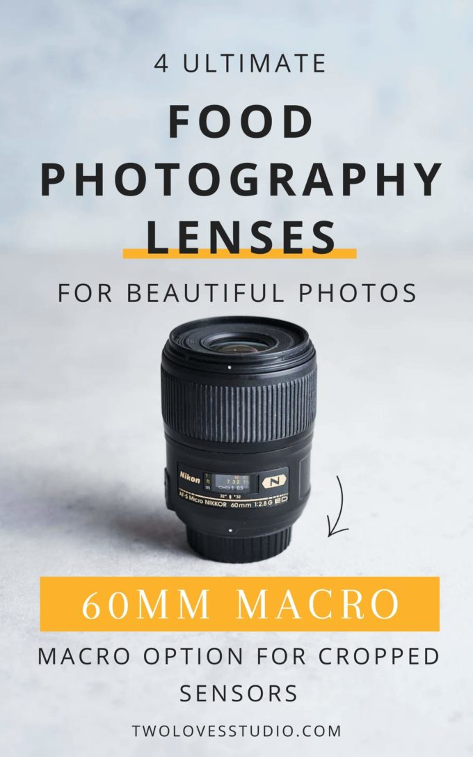 60 MM lense on a table, close up image.
