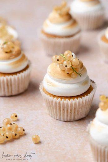 Vanilla Cupcakes by Lauren Short. Food photo shot with Sony FE 90mm f/2.8 Macro G OSS.