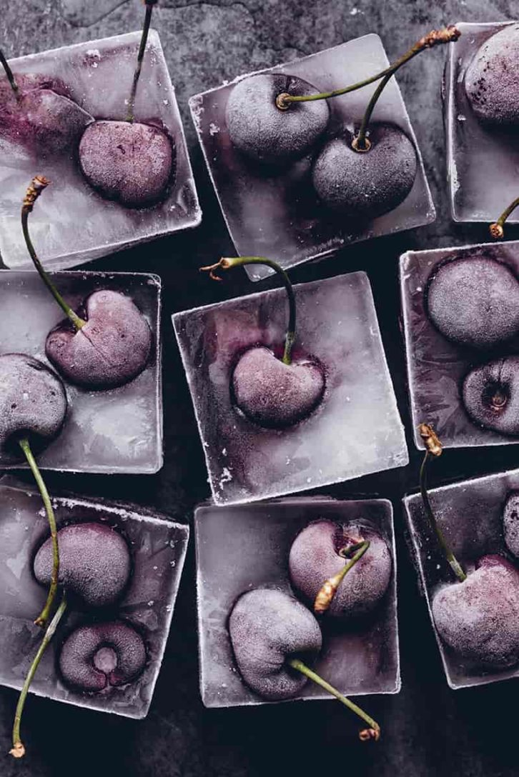 Frozen Cherries by Bea Lubas  Food photo shot with Canon EF 100mm f/2.8L Macro IS USM.
