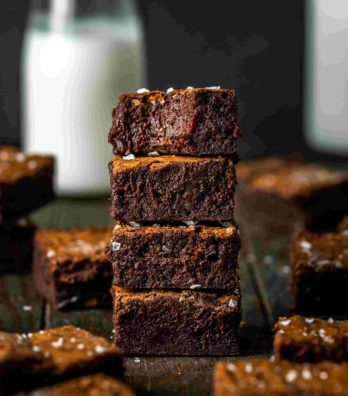 Chocolate Brownie by Mike Johnson.  Food photo shot with Sigma 105mm F2.8 EX DG OS HSM Macro.