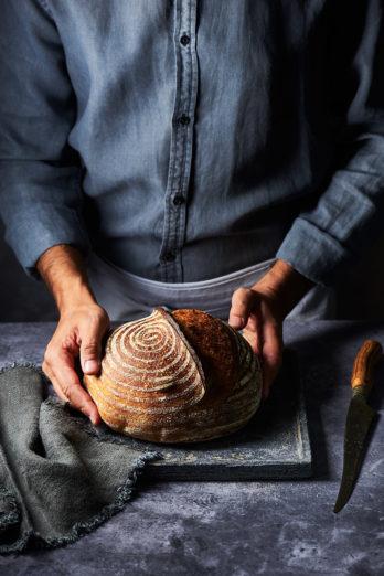 Sourdough Bread by Himanshu Taneja. Food photo shot with Nikon 105mm f/2.8G Macro.