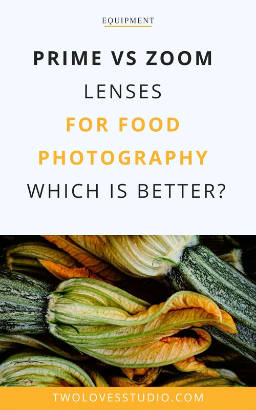 Zucchini flowers with the text is prime or zoom lenses better?